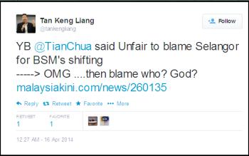 Twitter - tankengliang- YB @TianChua