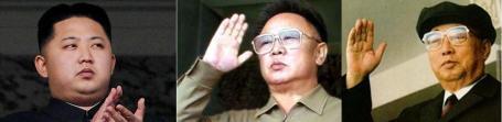 Pemerintah dinasti Korea Utara: Kim Il Sung, anaknya Kim Jong Il dan cucunya Kim Jong Un