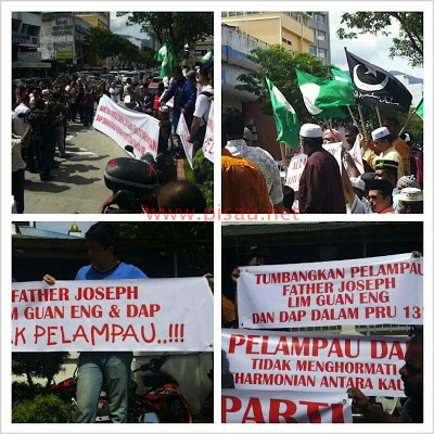 Demo against Guan Eng at the Simpang Enam Mosque on 28 Dec 2012