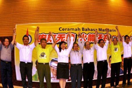 DAP leaders with Himpunan Hijau