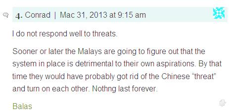 Silent anger among Malays is growing Conrad