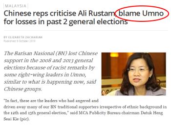 Chinese reps blame Umno