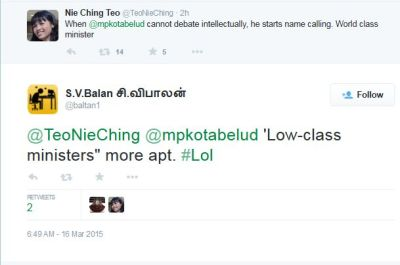 @TeoNieChing @mpkotabelud Low-class ministers