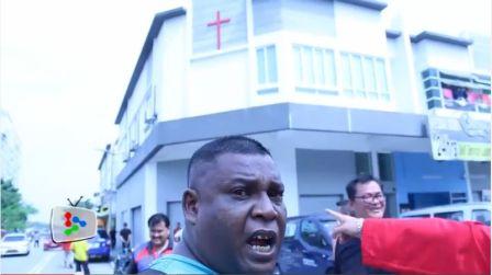 Taman Medan anti-church protest