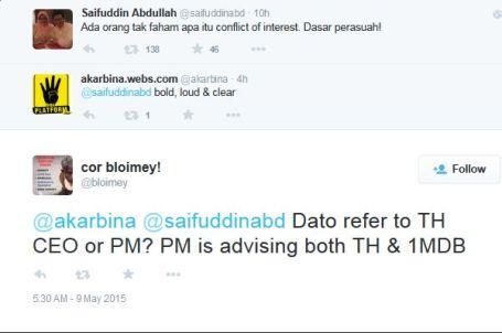 PM is advising both TH & 1MDB