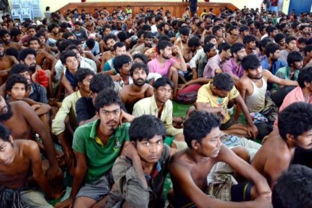 Rohingya fleing exodus