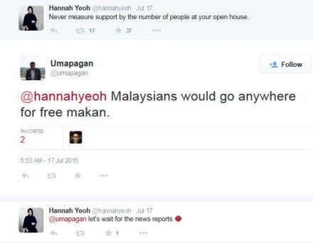 Hannah open house free makan